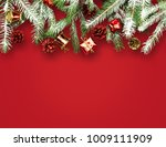 christmas tree branches | Shutterstock . vector #1009111909