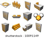 logistics process buildings and ... | Shutterstock . vector #10091149