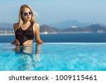 young model woman in black... | Shutterstock . vector #1009115461