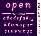 glowing neon hand drawn... | Shutterstock .eps vector #1009115869