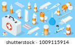big set of medical equipment... | Shutterstock .eps vector #1009115914