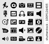 multimedia vector icon set.... | Shutterstock .eps vector #1009126405