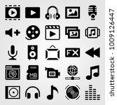 multimedia vector icon set. fx  ... | Shutterstock .eps vector #1009126447