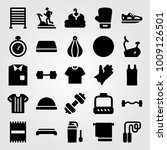 fitness vector icon set. gym... | Shutterstock .eps vector #1009126501
