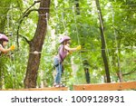 the obstacle course in...   Shutterstock . vector #1009128931
