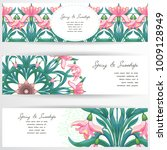 set of three horizontal banners.... | Shutterstock .eps vector #1009128949