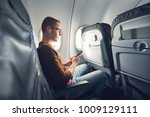 connection in the airplane.... | Shutterstock . vector #1009129111