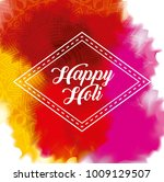happy holi color gulal powder... | Shutterstock .eps vector #1009129507