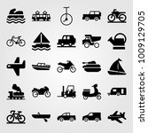 transport vector icon set.... | Shutterstock .eps vector #1009129705