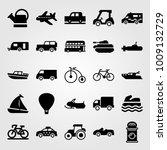 transport vector icon set.... | Shutterstock .eps vector #1009132729