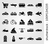 transport vector icon set.... | Shutterstock .eps vector #1009134235