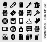 shopping vector icon set. glove ...   Shutterstock .eps vector #1009134259