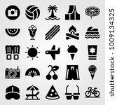 summertime vector icon set.... | Shutterstock .eps vector #1009134325