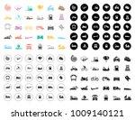 transport icons set   Shutterstock .eps vector #1009140121