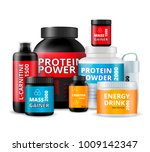 sport fitness food supplements... | Shutterstock .eps vector #1009142347
