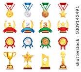 sport trophies festival awards... | Shutterstock .eps vector #1009142491