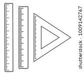 set of rulers  outline design.... | Shutterstock .eps vector #1009142767