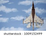 airplane wooden on a background ... | Shutterstock . vector #1009152499