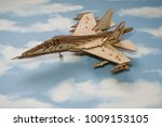 airplane wooden on a background ... | Shutterstock . vector #1009153105