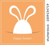 happy easter greeting card.... | Shutterstock .eps vector #1009154719