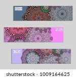ethnic banners template with... | Shutterstock .eps vector #1009164625