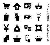 buy icons. set of 16 editable... | Shutterstock .eps vector #1009172179