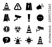 attention icons. set of 16... | Shutterstock .eps vector #1009172365
