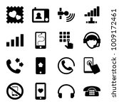 phone icons. set of 16 editable ... | Shutterstock .eps vector #1009172461