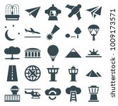Sky Icons. Set Of 25 Editable...
