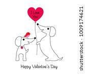 cute bulldog and birds... | Shutterstock .eps vector #1009174621