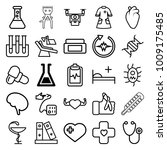 medical icons. set of 25... | Shutterstock .eps vector #1009175485