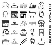 shop icons. set of 25 editable... | Shutterstock .eps vector #1009175545