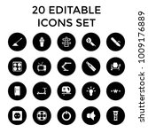 electric icons. set of 20... | Shutterstock .eps vector #1009176889