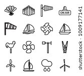 wind icons. set of 16 editable... | Shutterstock .eps vector #1009177141