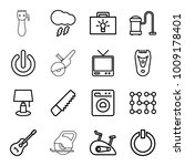 electric icons. set of 16... | Shutterstock .eps vector #1009178401