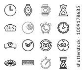 clock icons. set of 16 editable ... | Shutterstock .eps vector #1009178635