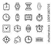 clock icons. set of 16 editable ... | Shutterstock .eps vector #1009180705