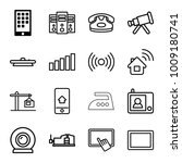 device icons. set of 16... | Shutterstock .eps vector #1009180741
