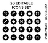 eat icons. set of 20 editable... | Shutterstock .eps vector #1009180855