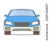 view in front of the sedan... | Shutterstock .eps vector #1009183837
