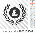 litecoin coin laurel wreath... | Shutterstock .eps vector #1009185841