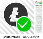 valid litecoin icon with 7...