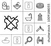bathroom icons. set of 13... | Shutterstock .eps vector #1009188055