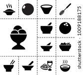 bowl icons. set of 13 editable...   Shutterstock .eps vector #1009188175