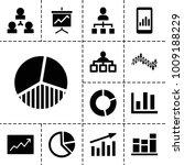 chart icons. set of 13 editable ...   Shutterstock .eps vector #1009188229