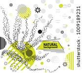 trendy memphis eco style... | Shutterstock .eps vector #1009189231