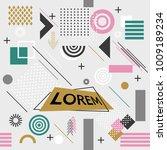 trendy memphis style geometric... | Shutterstock .eps vector #1009189234