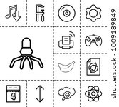 technology icons. set of 13... | Shutterstock .eps vector #1009189849