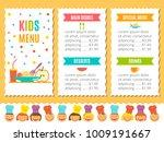 cute colorful kids meal menu...   Shutterstock .eps vector #1009191667