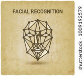 facial recognition system 3d... | Shutterstock .eps vector #1009192579